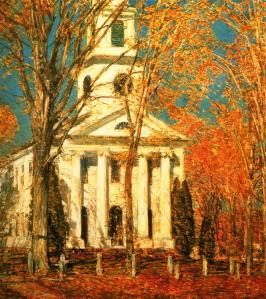 Childe Hassam, Church at Old Lyme (Connecticul)