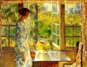Childe Hassam, Bowl of Goldfish