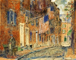 Childe Hassam, Acorn Street, Boston