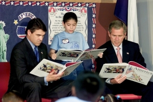 Rick Perry reads