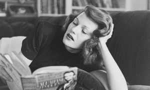 Rita Hayworth reads