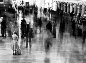 Waiting in Grand Central Station by James Maher, time-lapse picture. Prints available on his website.