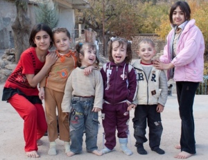 Yazidi children