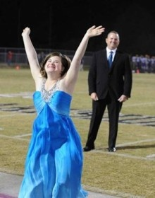 This is Jessica Giddens. She was announced Homecoming Queen at her school in Georgia.