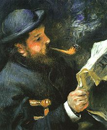 Monet Reading, August Renoir