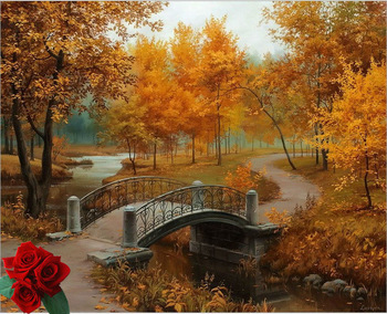 Autumn Forest, by Thomas Kinkade