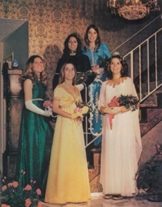 Football Homecoming Court in the 1972