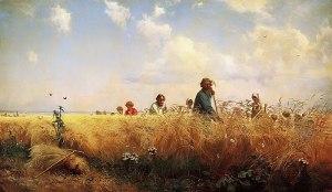 Harvesting, by G. Myasoedov