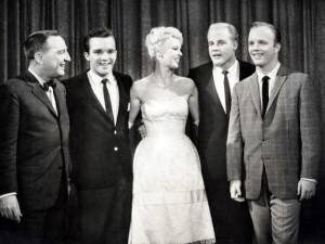 Bing Crosby lost two of his sons to suicide...Dennis and Lindsay. Photo from the television program I've Got a Secret. From left: Garry Moore, Lindsay Crosby, Betsy Palmer, Phillip Crosby, Dennis Crosby.