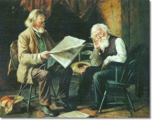 Reading the Morning Newspaper, Harry Herman Roseland