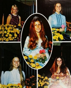 Homecoming Queen and her Court, in the 1974