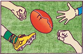 Jim Pavlidis, Football violence against women