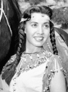 (Native American) ...Indian actress Kim Winona plays the tribal maiden on CBS-TV's show. Kim's an expert rider, having ridden horses since her childhood days on a Sioux reservation. --- Image by © Bettmann/CORBIS