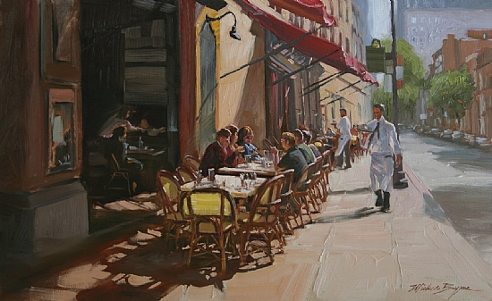 Morning Coffee in the City, by Michele Byrne