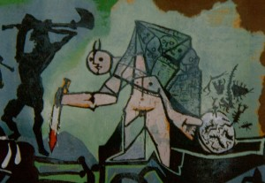 From Picasso's War, a commentary on race hatred
