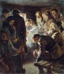 reading-the-newspaper-war-news nikolay bogdanovbelsky