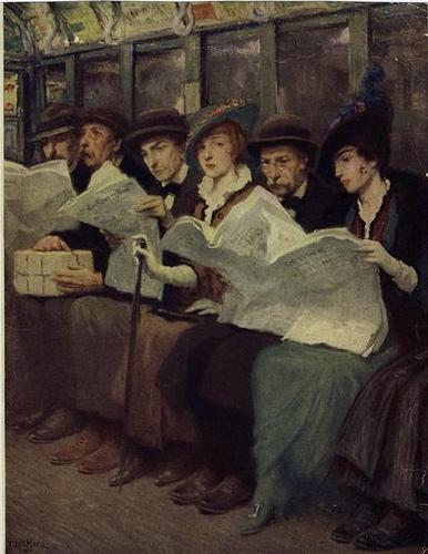 Subway Riders, Francis Louis Mora, 1914