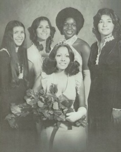 The 1974 Homecoming Queen and her court Tucson, Arizona.