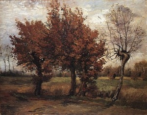 Autumn landscape, by Vincent Van Gogh