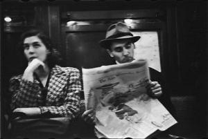 Photo of NY subway by Walker Evans