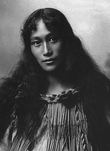 Beautiful maori woman Wetekia Ruruku Elkington