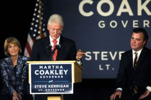 Bill Clinton stumps for Coakley