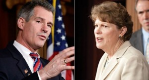 Scott Brown and Jeanne Shaheen