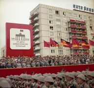 East Germany in 1986 celebrating 25 years of the Berlin Wall.
