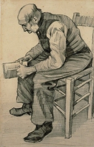 Man reading van gogh