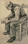 Man reading vangogh