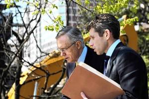 Harry Reid with top aide David Krone