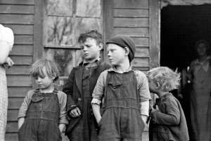 Russell Lee - Children of Frank Moody, Miller Township, Woodbury County, Iowa, 1936