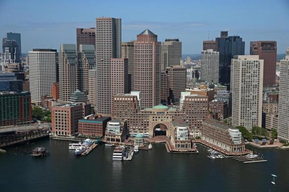 Harbor view of Boston