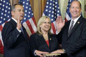 John Boehner swears in Florida's Ted Yoho.