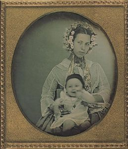 Brazilian woman and her baby 1855
