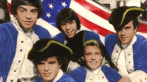 Paul Revere (second from right) and the Raiders