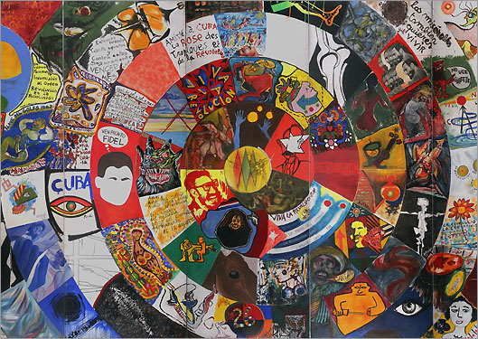 "Courtesy of the Montreal Museum of Fine Arts ""Cuba Colectiva,"" a 1967 mural by 100 artists for the Salon de Mai exhibition in Havana, on view at the Montreal Museum of Fine Arts."