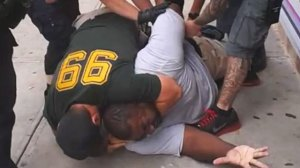 Daniel Pantaleo chokes Eric Garner on video.