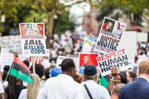 Garner protests