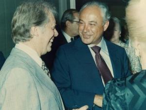Robert Strauss with Jimmy Carter