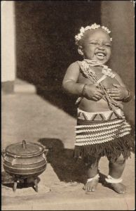south africa, Native Young Boy or Girl. 1940's