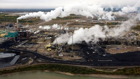 This is a tar sands plant Alberta, Canada. Republicans can't wait to bring this to the US.