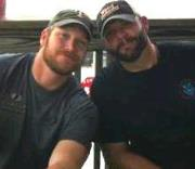 Chris Kyle (left) with Chad Littlefield