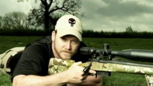 Chris Kyle and his gun