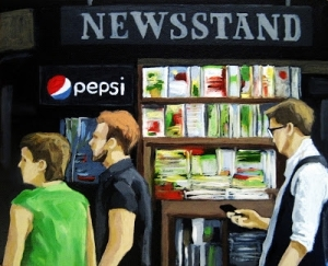 Newsstand, by Linda Apple