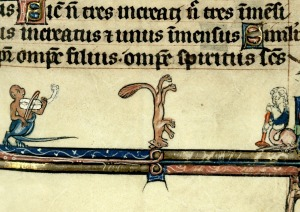 breakdancing fox breviary, France 13th century. Cambrai, Bibliothèque municipale, ms. 102, fol. 324r