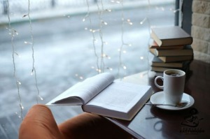 Coffee books snow