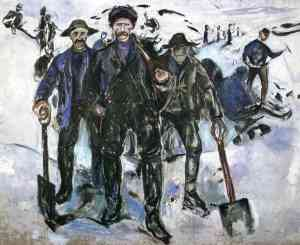 Edvard Munch, Workers in the Snow