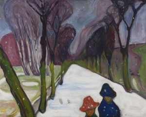 Edvard Munch, New Snow on the Avenue