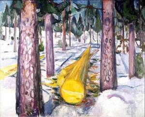 Edvard Munch, Yellow Log